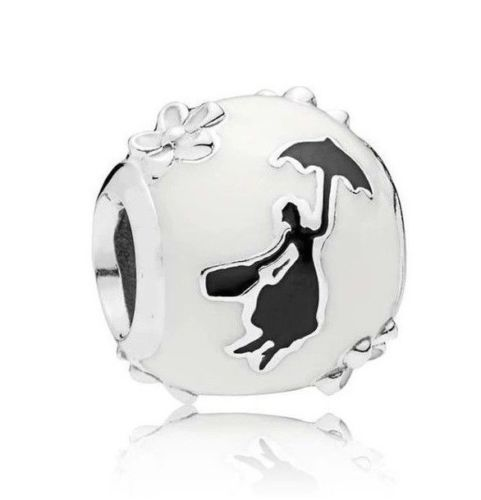925 Silver Disney Mary Poppins Silhouette Umbrella Charm