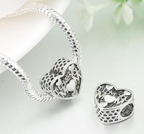 I Love You mom mother day love heart Charm pandora style