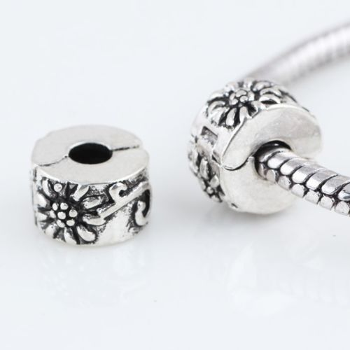 pandora fit  Daisy Flower Clip Lock Stopper Charm