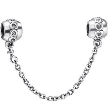 Silver Sterling Dainty Bow knot safety chain