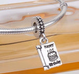 Happy Birthday Celebration Pendant Charm for pandora bracelets