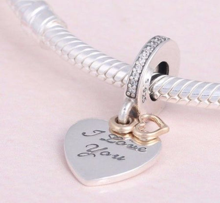 Silver Sterling Best Friends Always There Pendant Charm set