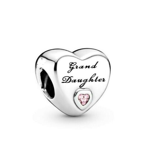 Sterling Silver Grand Daughter Love Heart Charm