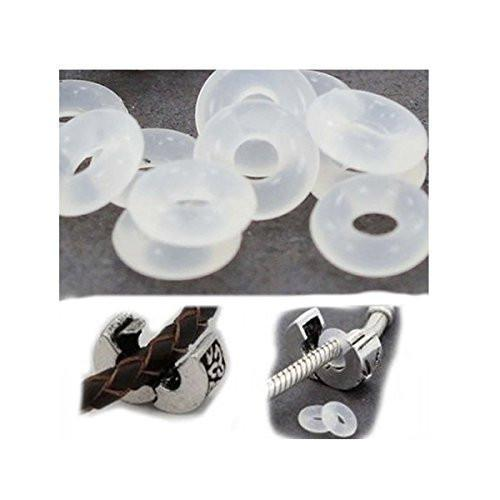 silicone rubber inserts stoppers for pandora bracelets bangles super sterling