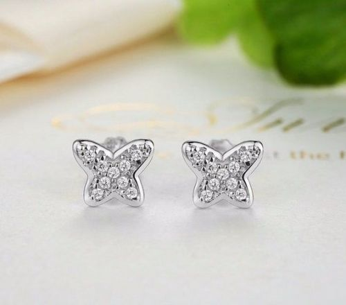 pandora style butterfly earrings