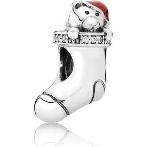 Christmas Stocking xmas sock Charm pandora