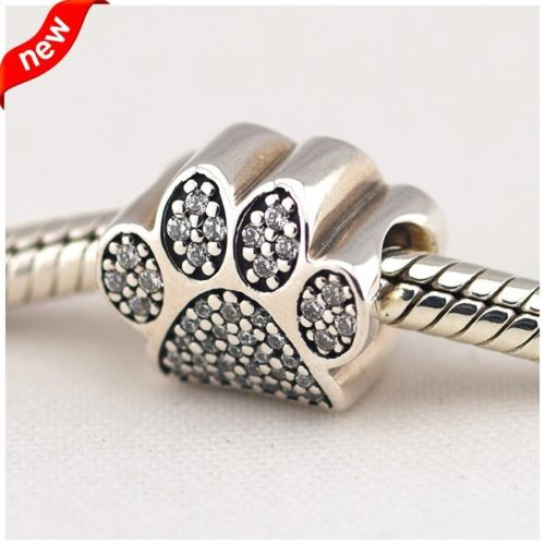 Pave Dog Paw Pet Animal Charm