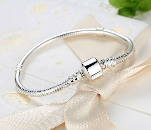 925 Silver Starter Classic barrel Clasp Moments Charm Bracelet