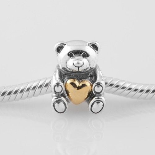 teddy bear love charm for pandora chamilia bracelets
