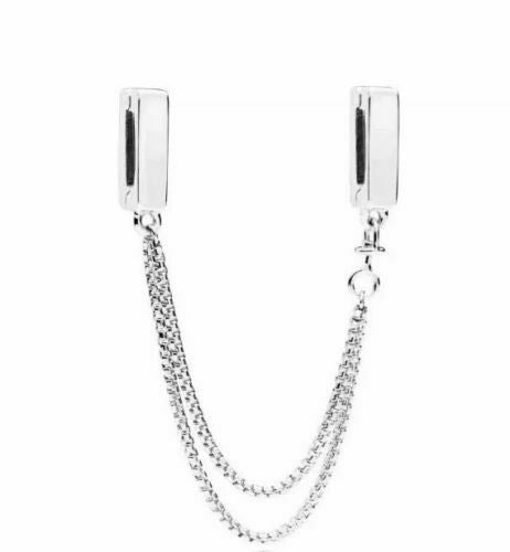 925 Silver Reflexions Floating Clip On Safety Chain Fits Reflexions bracelets