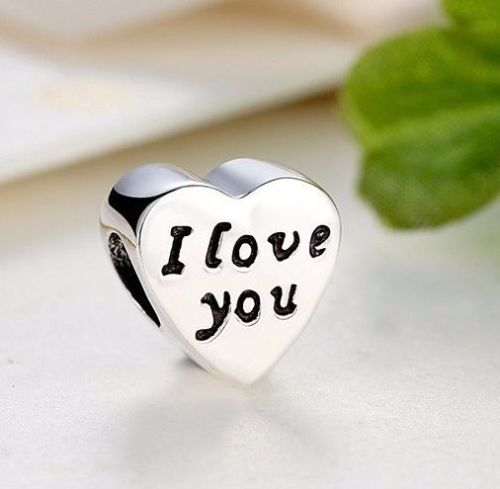 i love you words of love charm fits pandora bracelets