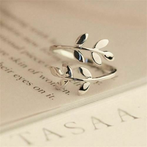 Olive Leaf Adjustable Ring