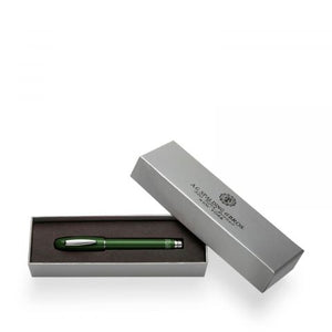 Spalding & Bros Short Classic Rollerball Pen: Dark Green