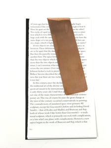 Folded Angle Bookmark, Copper