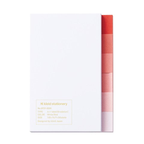 6+1 Label Gradation White/ Red Sticky Notes