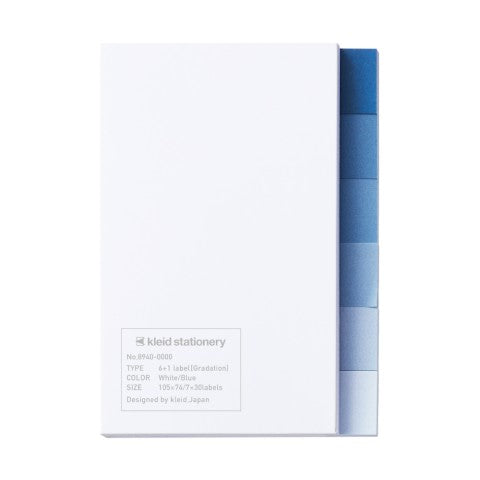 6+1 Label Gradation White/ Blue Sticky Notes