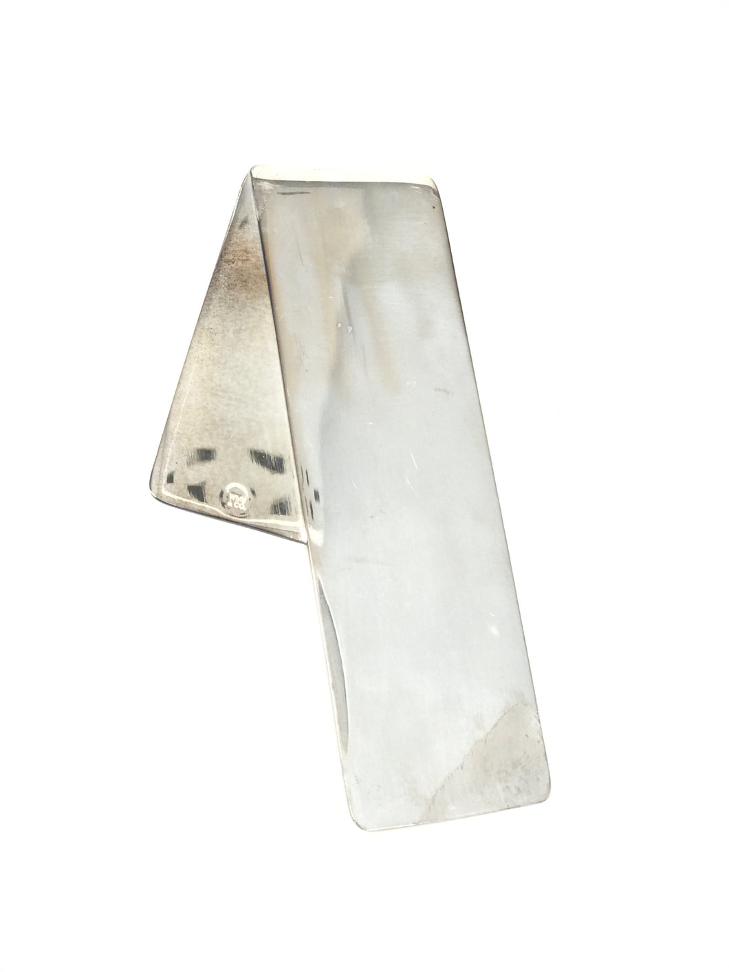 Folded Angle Bookmark, Silver-Plated