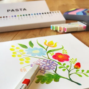 Drawing + Graphic Marker Pasta: 5 Fluorescent Colors Set