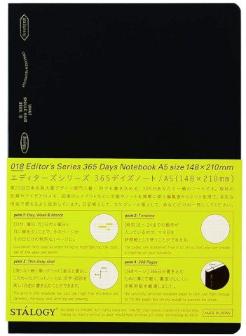 365 Notebook in Black