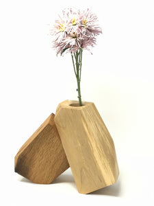 Wood + Glass Botanical Holder I
