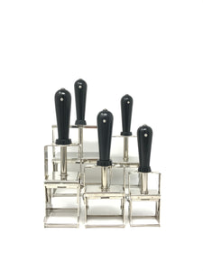 Self Inking Stamper - Nickel-plated + Black