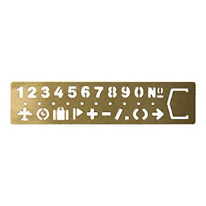 Brass Stencil - Numbers and Symbols