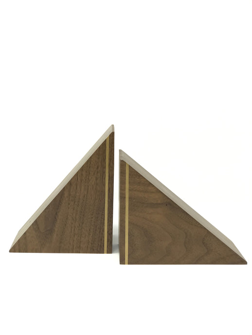 Hardwood Triangle Bookends