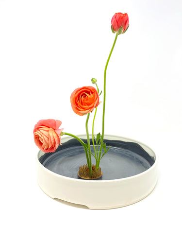 Large Porcelain Ikebana Vessel