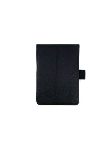 Small Leather Notepad in Black