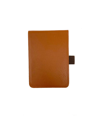 Medium Leather Notepad in Brown