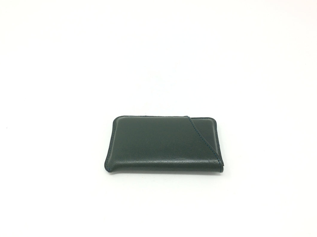 Forest Green Leather Card Case