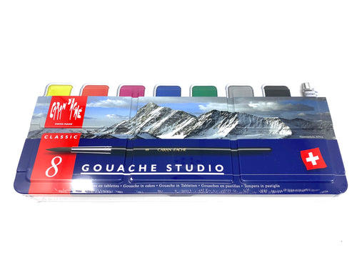 Pan Set of Eight Gouache Paints