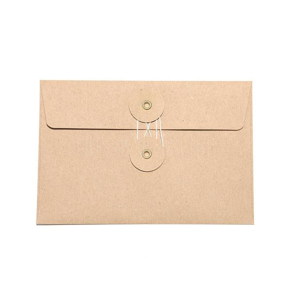 Medium Brown Kraft Envelope w/ String