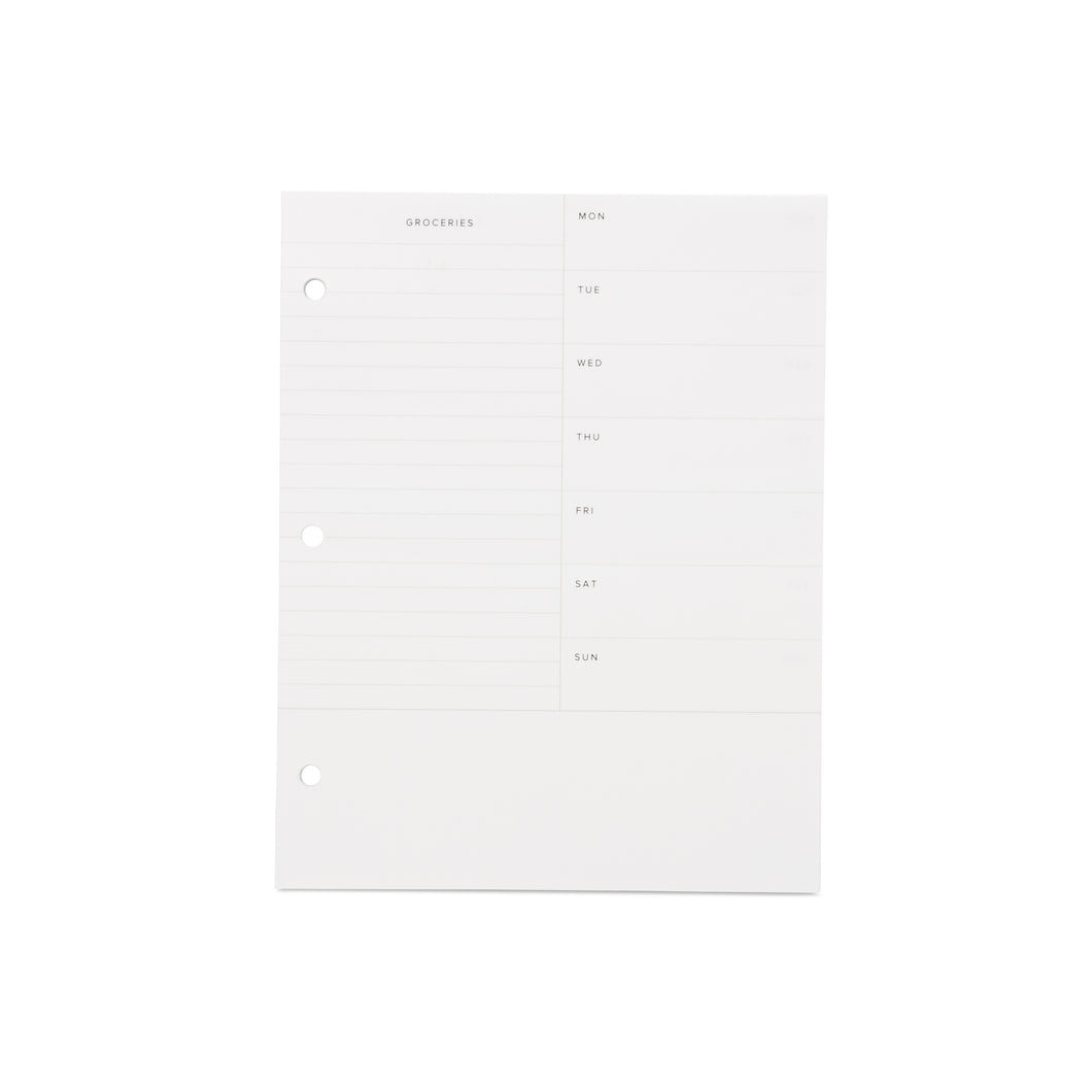 Planner Inserts - Meal Planning