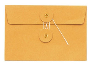 Medium Orange Kraft Envelope w/ String