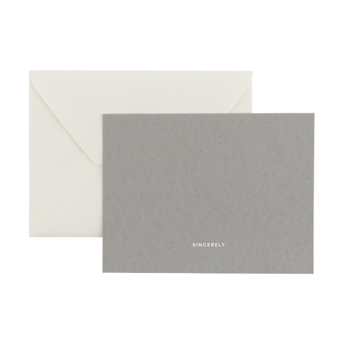 Notecard Set - Sincerely