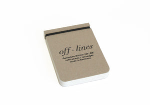 Small Notepad Refill by Off Lines