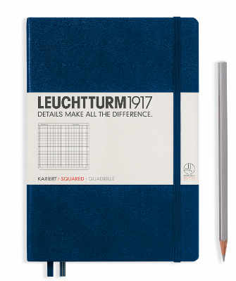 Navy A5 Notebook - Grid