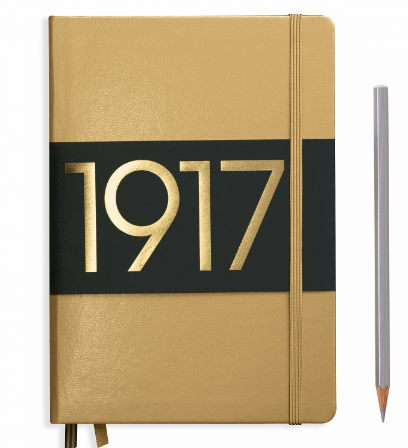 Gold A5 Notebook - Blank