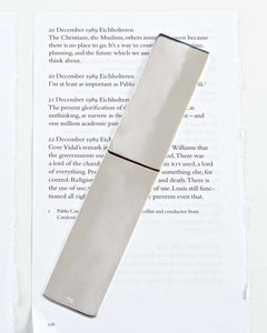 Straight Angle Bookmark, Silver-Plated