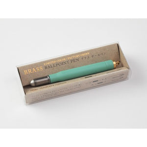 Factory Green Brass Ballpoint Pen