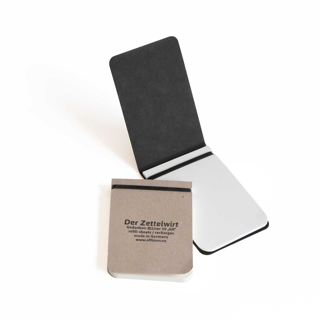 Small Refillable Notepad: Black