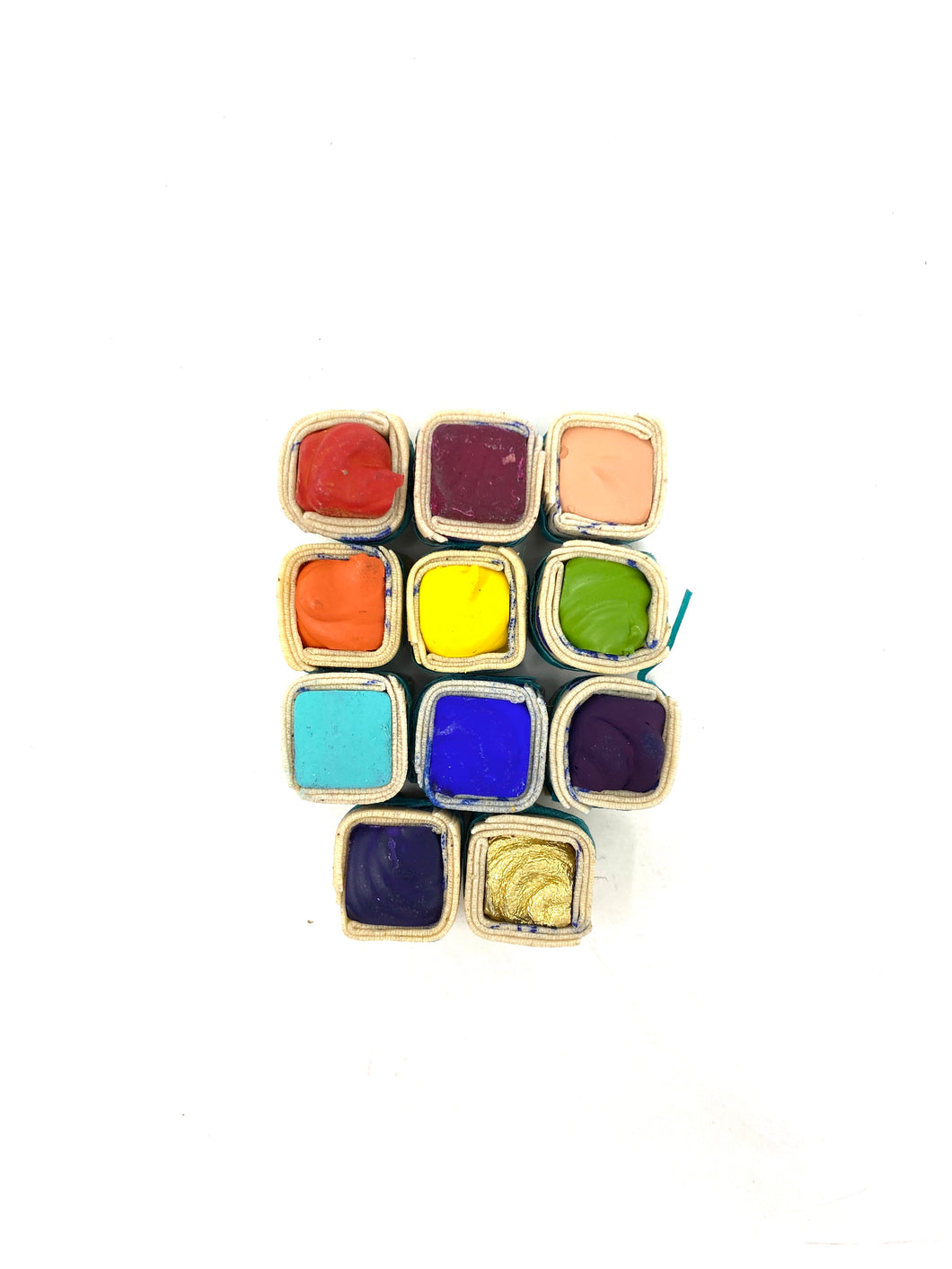 Set of 11 Watercolor Paintstones