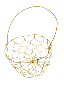 Handwoven Brass Basket