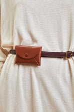 Calf Leather Envelope Card Case in Sienna