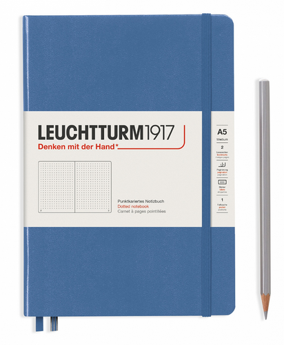 Denim A5 Notebook - Dotted