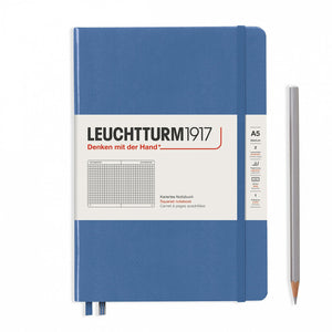 Denim A5 Notebook - Grid