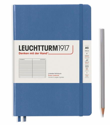 Denim A5 Notebook - Ruled