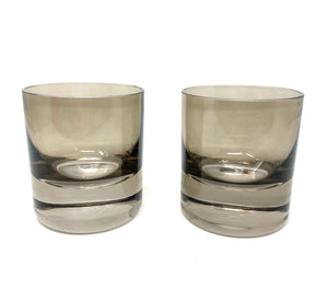 Grey Smoke Rocks Glasses