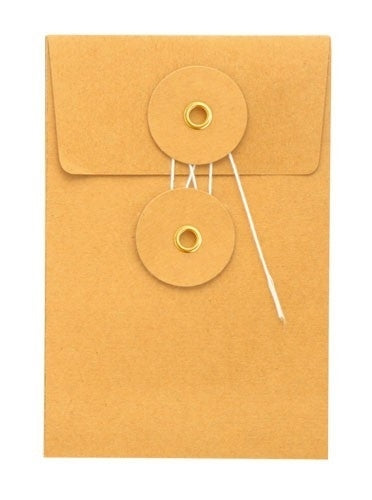 Small Orange Kraft Envelope w/ String